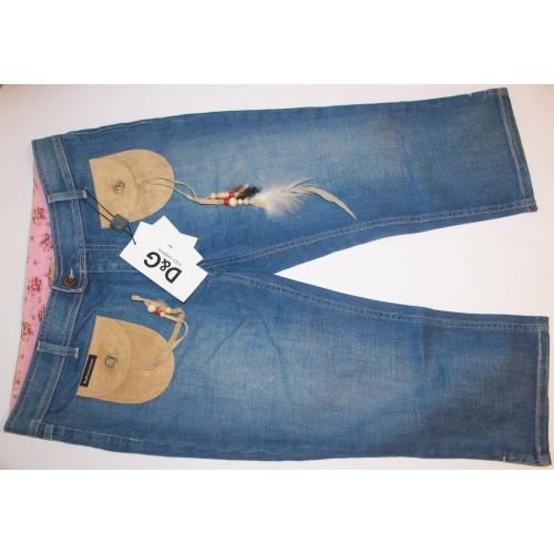 Новые джинсовые бриджи Dolce and Gabbana